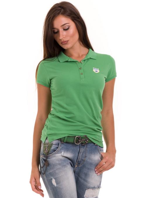 Дамска блуза с яка JOGGY GIRLS 4802- зелена