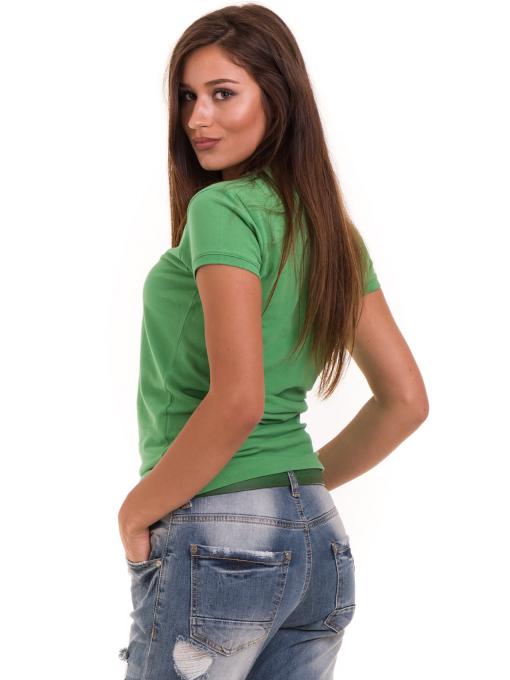Дамска блуза с яка JOGGY GIRLS 4802- зелена B