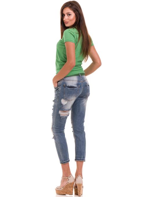 Дамска блуза с яка JOGGY GIRLS 4802- зелена E