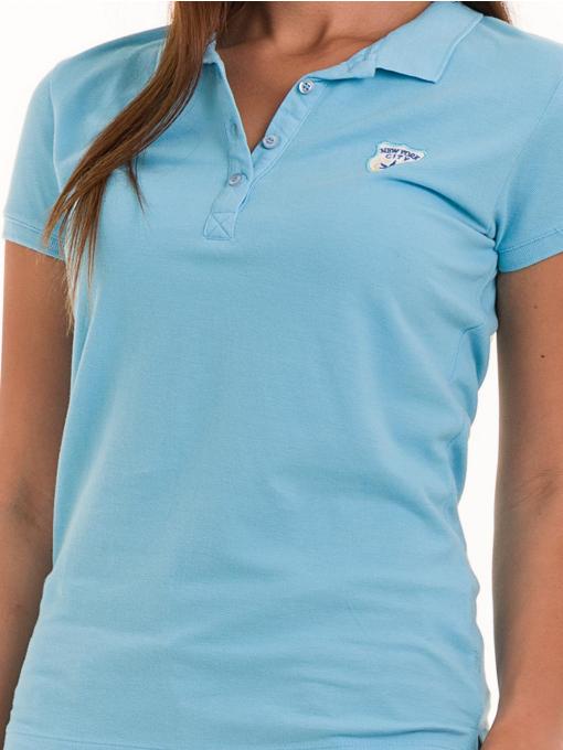 Дамска блуза с яка JOGGY GIRLS 4802 - светло синя D