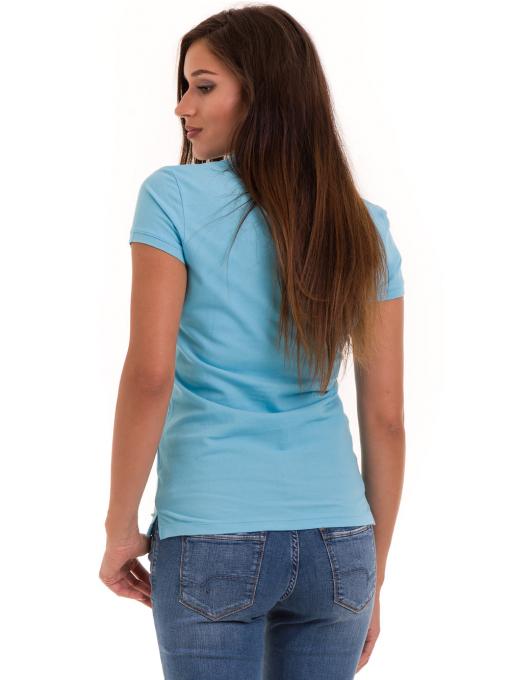 Дамска блуза с яка JOGGY GIRLS 4802 - светло синя B