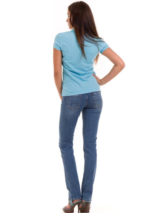 Дамска блуза с яка JOGGY GIRLS 4802 - светло синя E