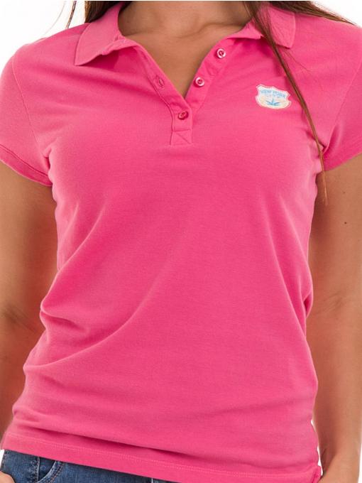 Дамска блуза с яка JOGGY GIRLS 4802 - тъмно розова D