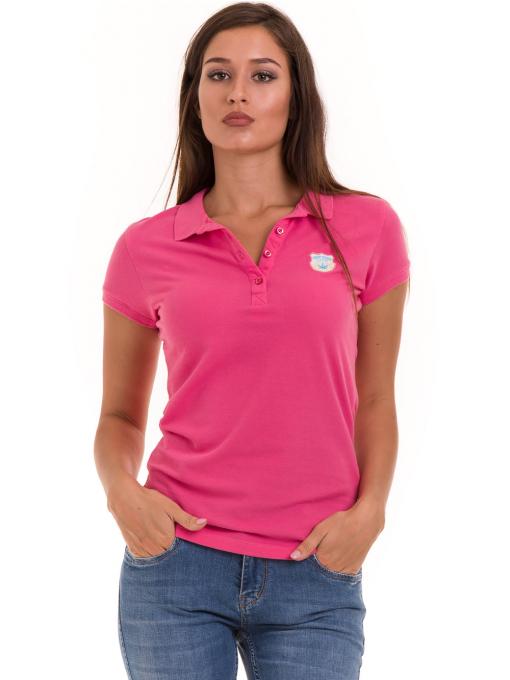 Дамска блуза с яка JOGGY GIRLS 4802 - тъмно розова