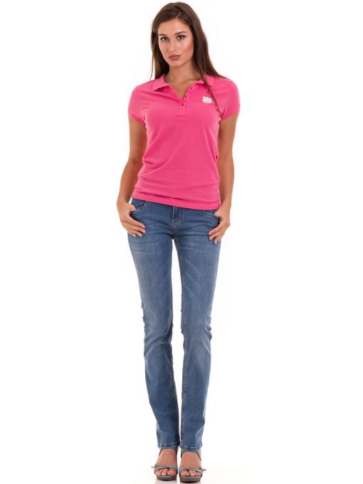 Дамска блуза с яка JOGGY GIRLS 4802 - тъмно розова C