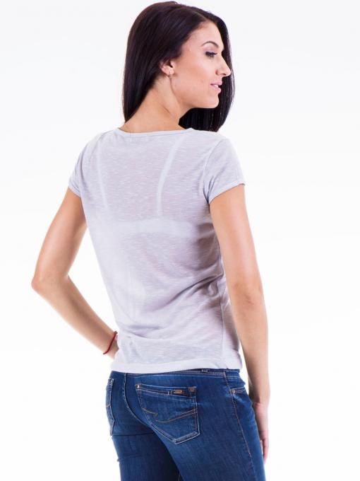 Дамска блуза с щампа JOGGY GIRLS 4890 - сива B
