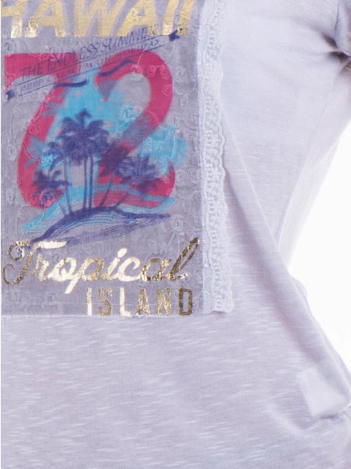Дамска блуза с щампа JOGGY GIRLS 4890 - сива D