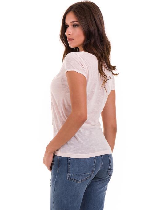 Дамска тениска с щампа JOGGY GIRLS 4890 - розова B