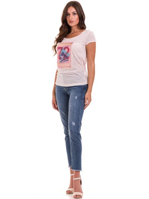 Дамска тениска с щампа JOGGY GIRLS 4890 - розова C