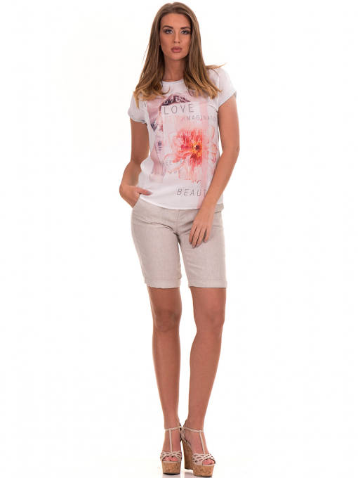 Дамска блуза с щампа и надписи JOGGY GIRLS 5196 - светло сива C