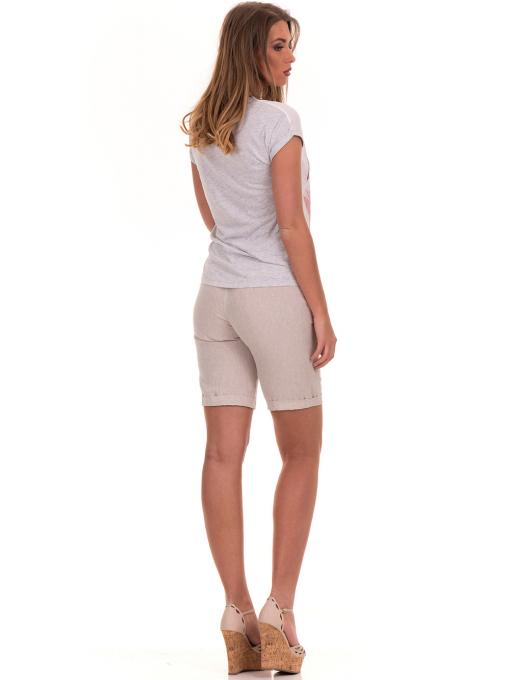 Дамска блуза с щампа и надписи JOGGY GIRLS 5196 - светло сива E