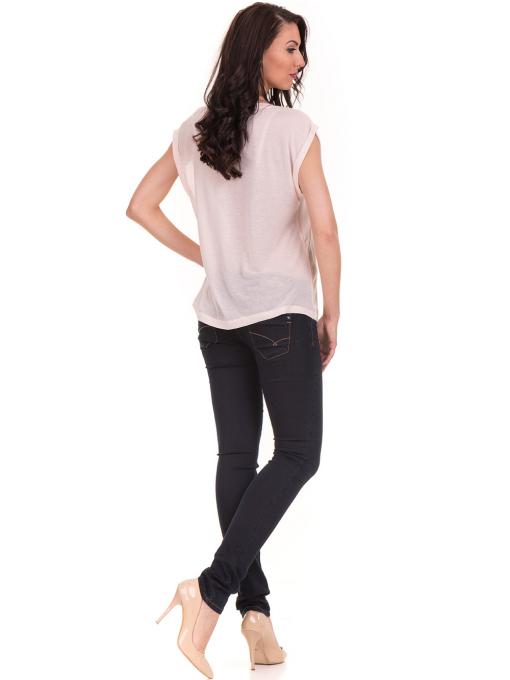 Дамска блуза с щампа JOGGY GIRLS 5245 - светло розова E