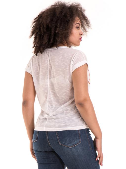 Дамска блуза с флорални мотиви JOGGY GIRLS 5278 - цвят бял B