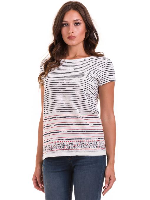 Дамска блуза свободен модел JOGGY GIRLS 6105 - цвят екрю