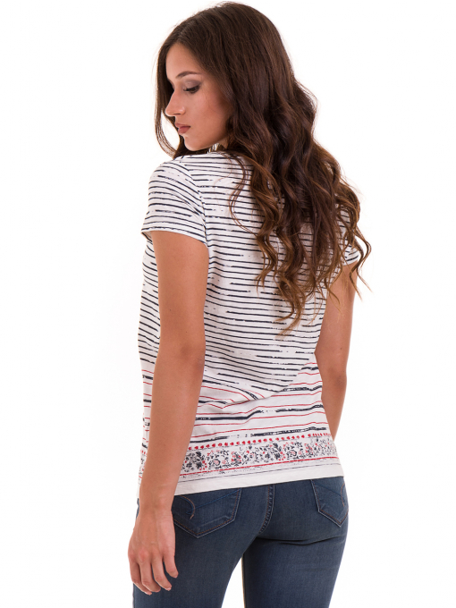 Дамска блуза свободен модел JOGGY GIRLS 6105 - цвят екрю B
