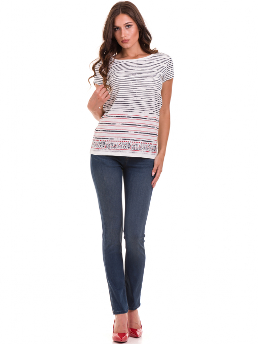 Дамска блуза свободен модел JOGGY GIRLS 6105 - цвят екрю C