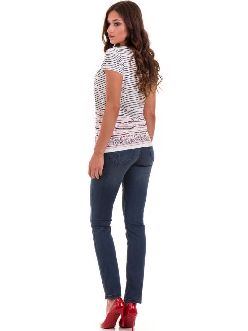 Дамска блуза свободен модел JOGGY GIRLS 6105 - цвят екрю E