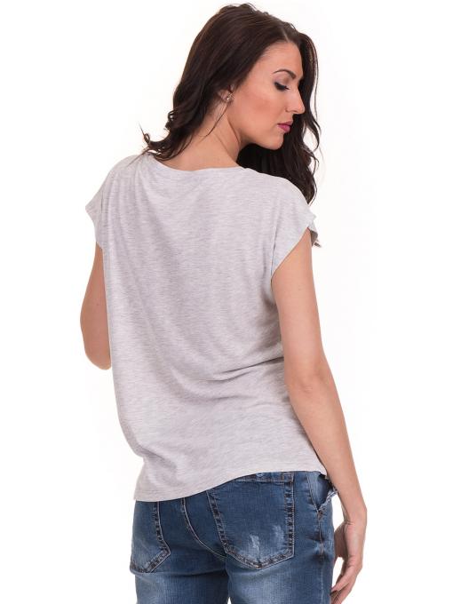 Дамска блуза с надписи JOGGY GIRLS 6156 - светло сива B