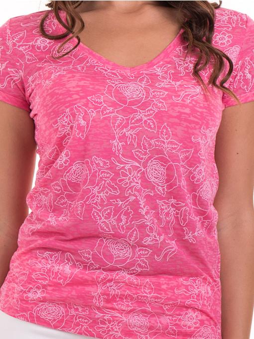 Дамска блуза с флорални мотиви JOGGY GIRLS 6197 - розова D