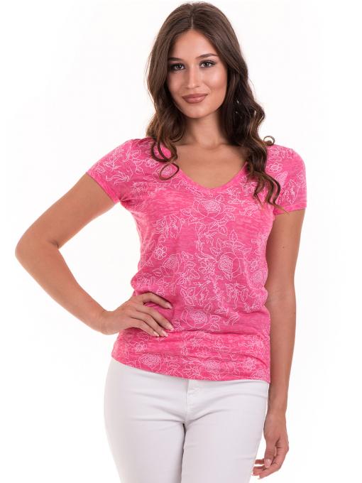 Дамска блуза с флорални мотиви JOGGY GIRLS 6197 - розова