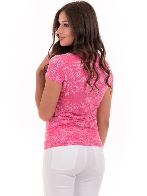 Дамска блуза с флорални мотиви JOGGY GIRLS 6197 - розова B