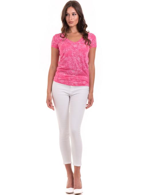 Дамска блуза с флорални мотиви JOGGY GIRLS 6197 - розова C
