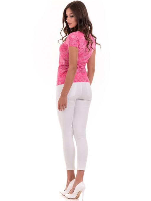 Дамска блуза с флорални мотиви JOGGY GIRLS 6197 - розова E