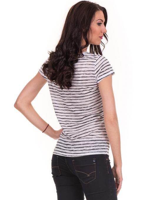 Дамска блуза на райе JOGGY GIRLS 6221 - бяла B