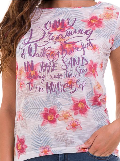 Дамска блуза с флорални мотиви JOGGY GIRLS 6224 - розова D
