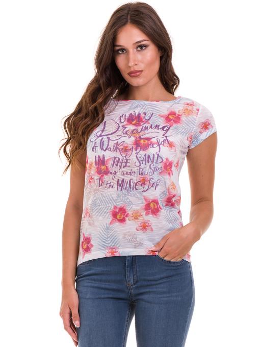 Дамска блуза с флорални мотиви JOGGY GIRLS 6224 - розова