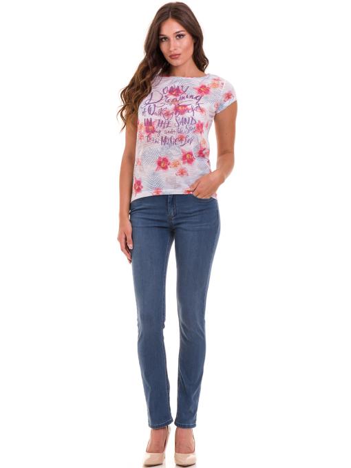 Дамска блуза с флорални мотиви JOGGY GIRLS 6224 - розова C