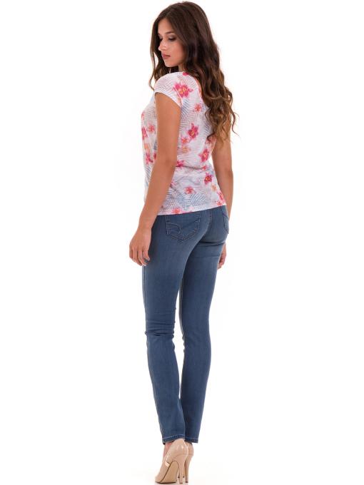 Дамска блуза с флорални мотиви JOGGY GIRLS 6224 - розова  E