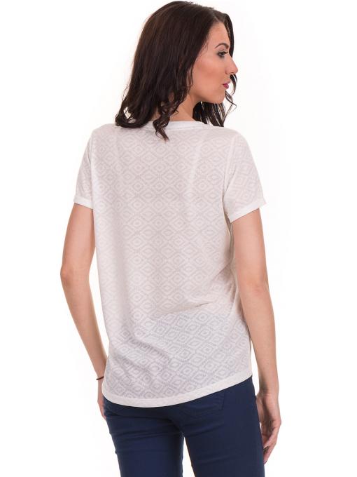 Дамска блуза с обло деколте JOGGY GIRLS 6232 - цвят екрю B