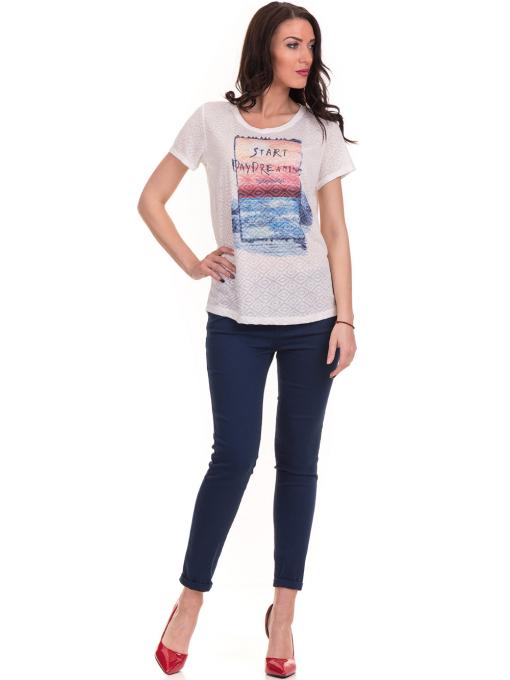 Дамска блуза с обло деколте JOGGY GIRLS 6232 - цвят екрю C