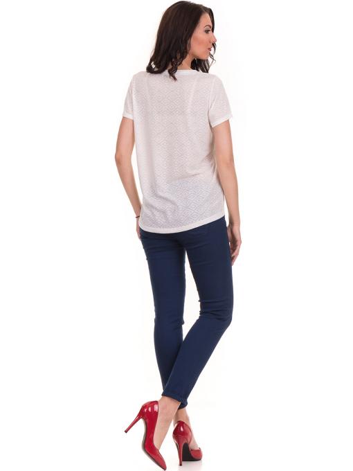 Дамска блуза с обло деколте JOGGY GIRLS 6232 - цвят екрю E