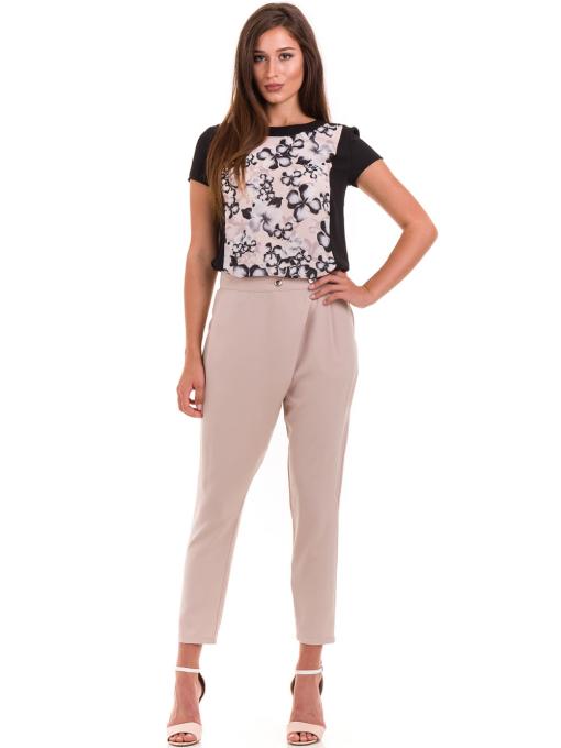 Дамска блуза с флорални мотиви JOY MISS 10431 - цвят праскова C
