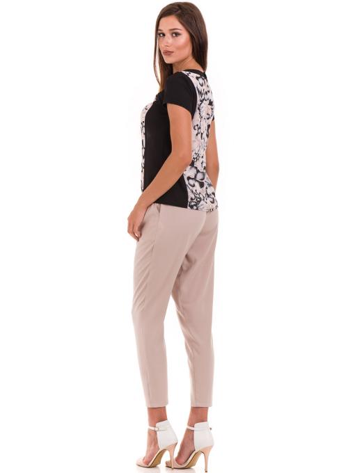 Дамска блуза с флорални мотиви JOY MISS 10431 - цвят праскова E