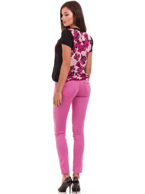 Дамска блуза с флорални мотиви JOY MISS 10431 - тъмно розова E