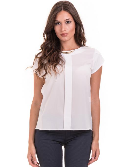 Дамска елегантна блуза JOVENNA 22462 -  цвят екрю