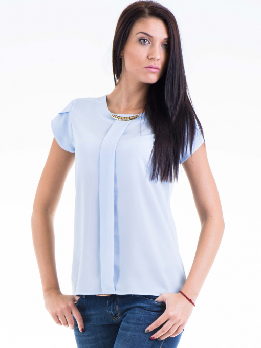 Дамска елегантна блуза JOVENNA 22462 - светло синя
