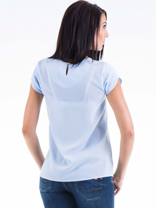 Дамска елегантна блуза JOVENNA 22462 - светло синя B