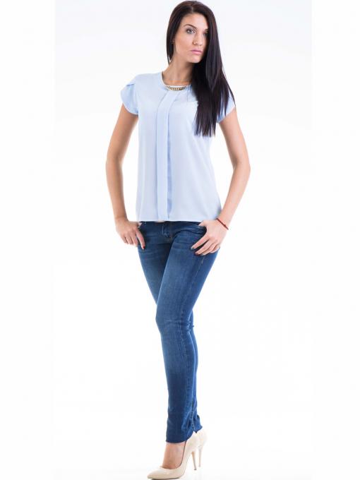 Дамска елегантна блуза JOVENNA 22462 - светло синя C