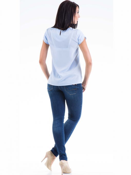 Дамска елегантна блуза JOVENNA 22462 - светло синя E