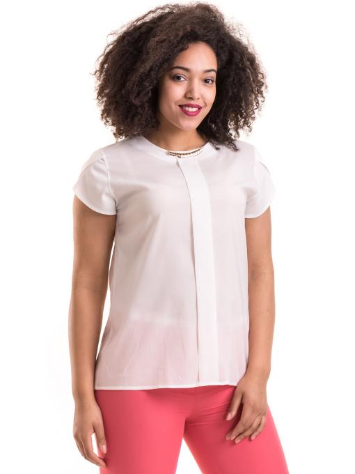 Дамска елегантна блуза JOVENNA B22462 - цвят екрю
