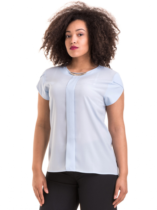 Дамска елегантна блуза JOVENNA B22462 - светло синя