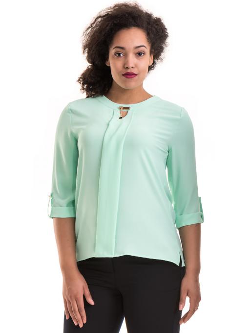 Дамска елегантна блуза с 3/4 ръкав  JOVENNA B22771 - цвят резеда