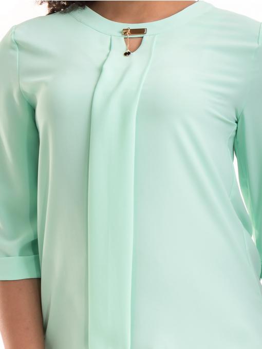 Дамска елегантна блуза с 3/4 ръкав  JOVENNA B22771 - цвят резеда D