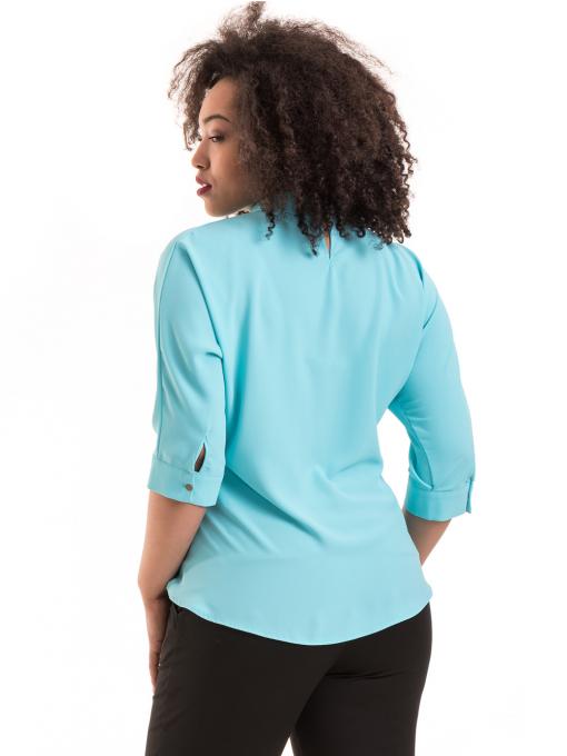Дамска елегантна блуза с яка JOVENNA B22782 - светло синя B