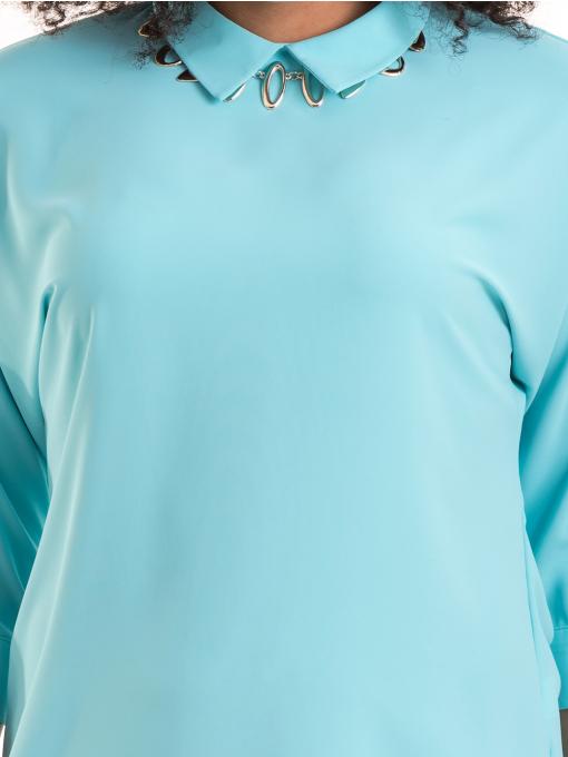 Дамска елегантна блуза с яка JOVENNA B22782 - светло синя D