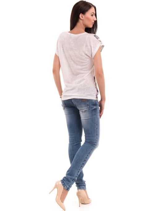 Дамска блуза с флорални мотиви LORA PLANA 3458 - лилава E